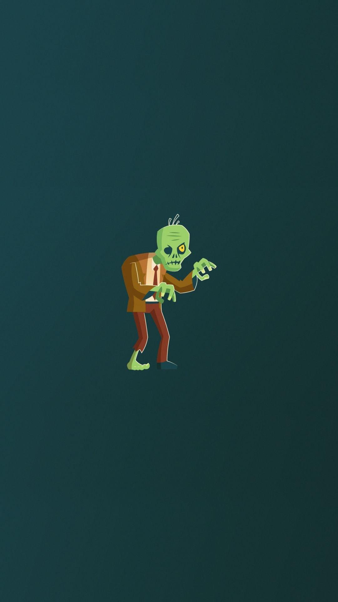 The Minimalism Zombie, Cartoon Wallpaper
