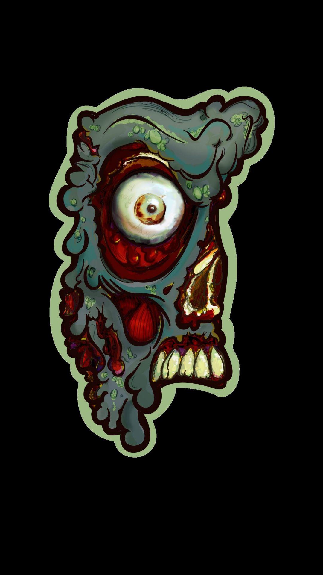 Zombie Galaxy wallpaper iPhone