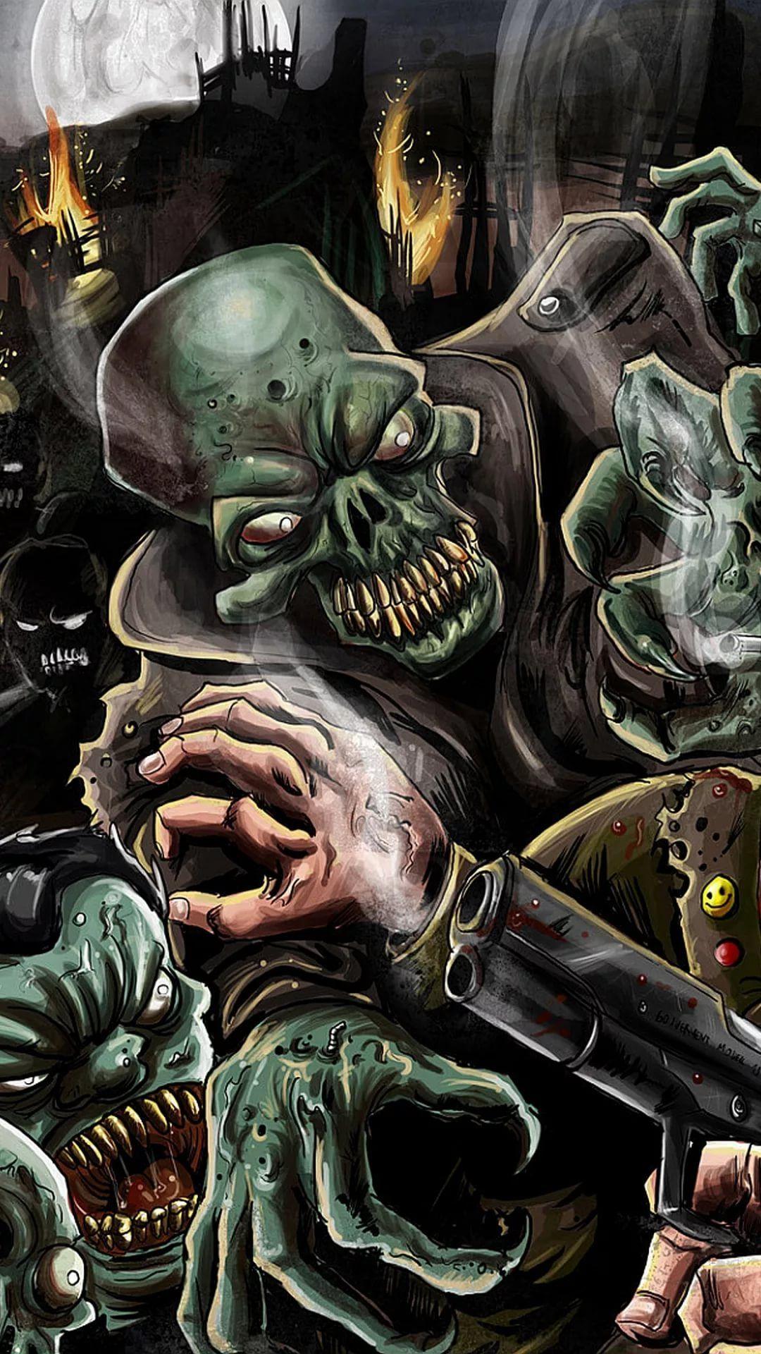 Zombie iOS 11 wallpaper