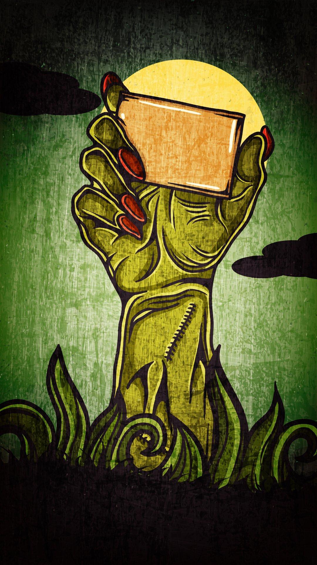 Zombie Hand Art