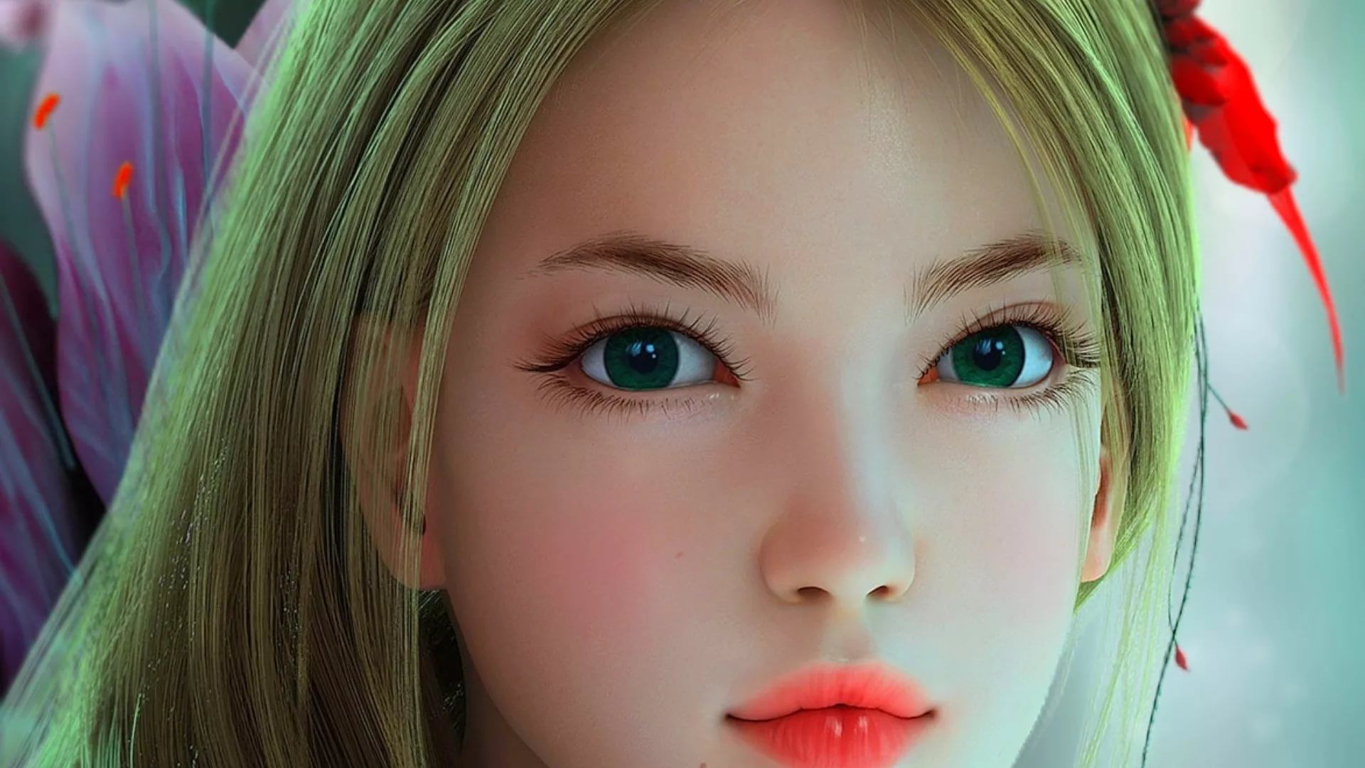 3D Girl full hd wallpaper