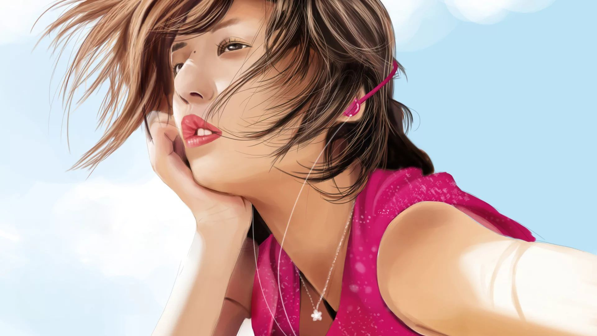 3D Girl Picture