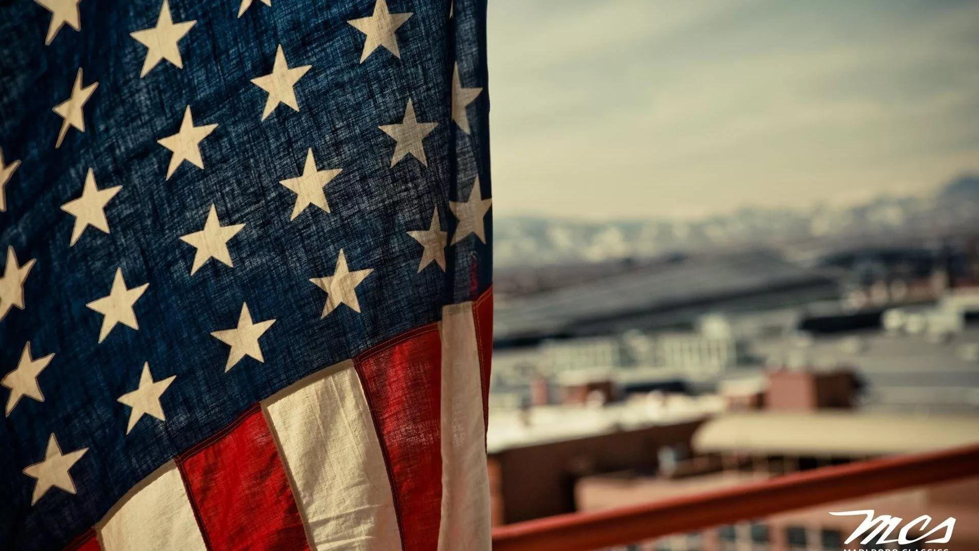 America Flag Free Desktop Wallpaper