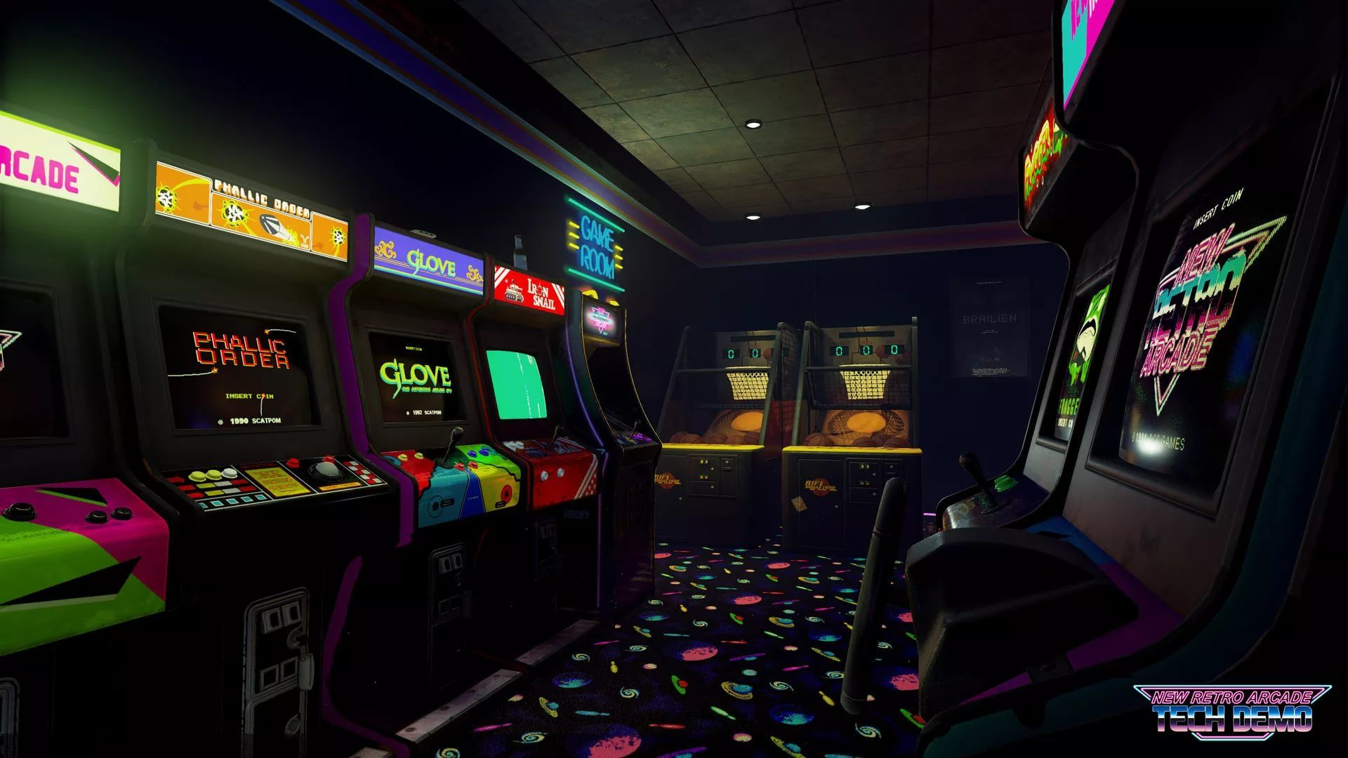 Arcade full screen hd wallpaper