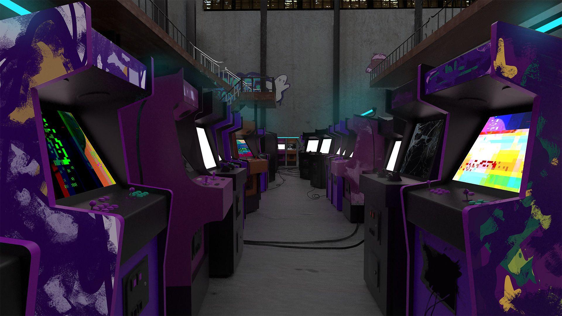 Arcade computer wallpaper