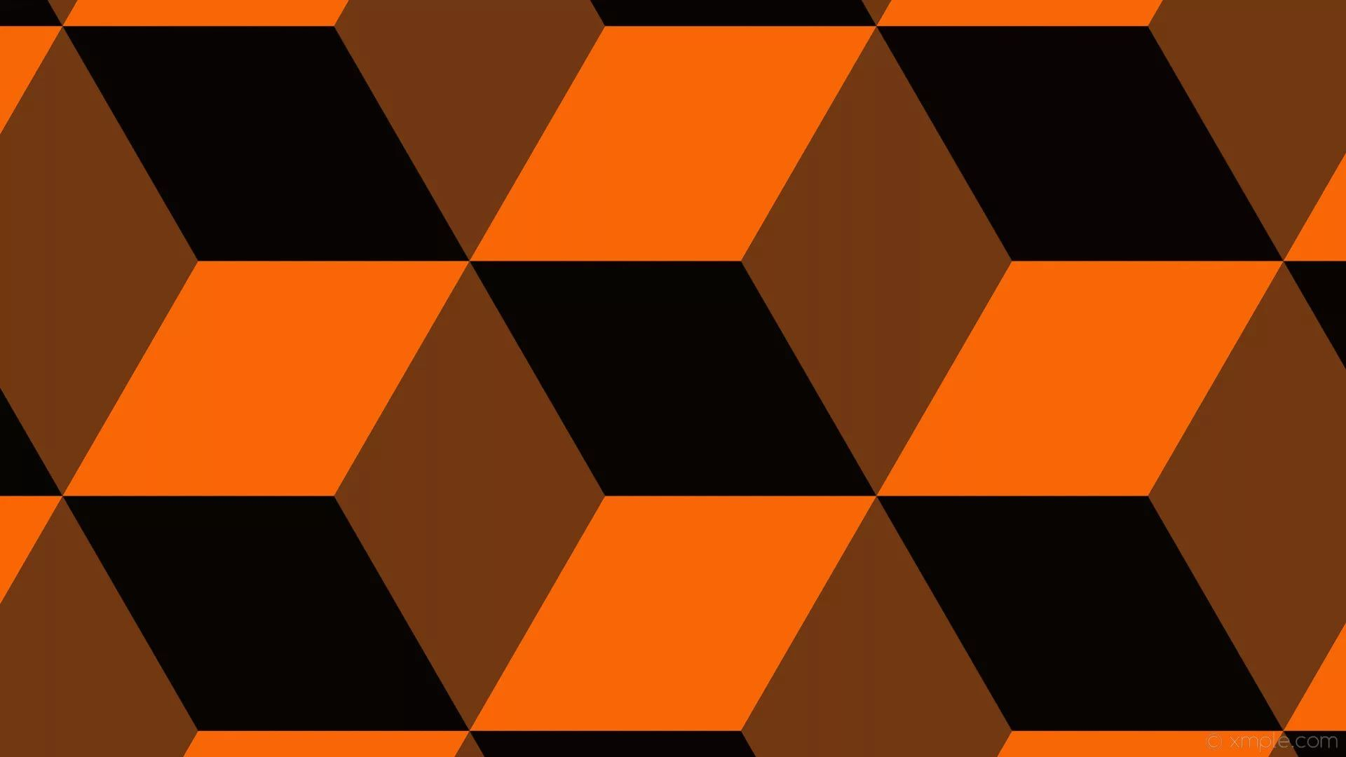 Black And Orange Cool Wallpaper