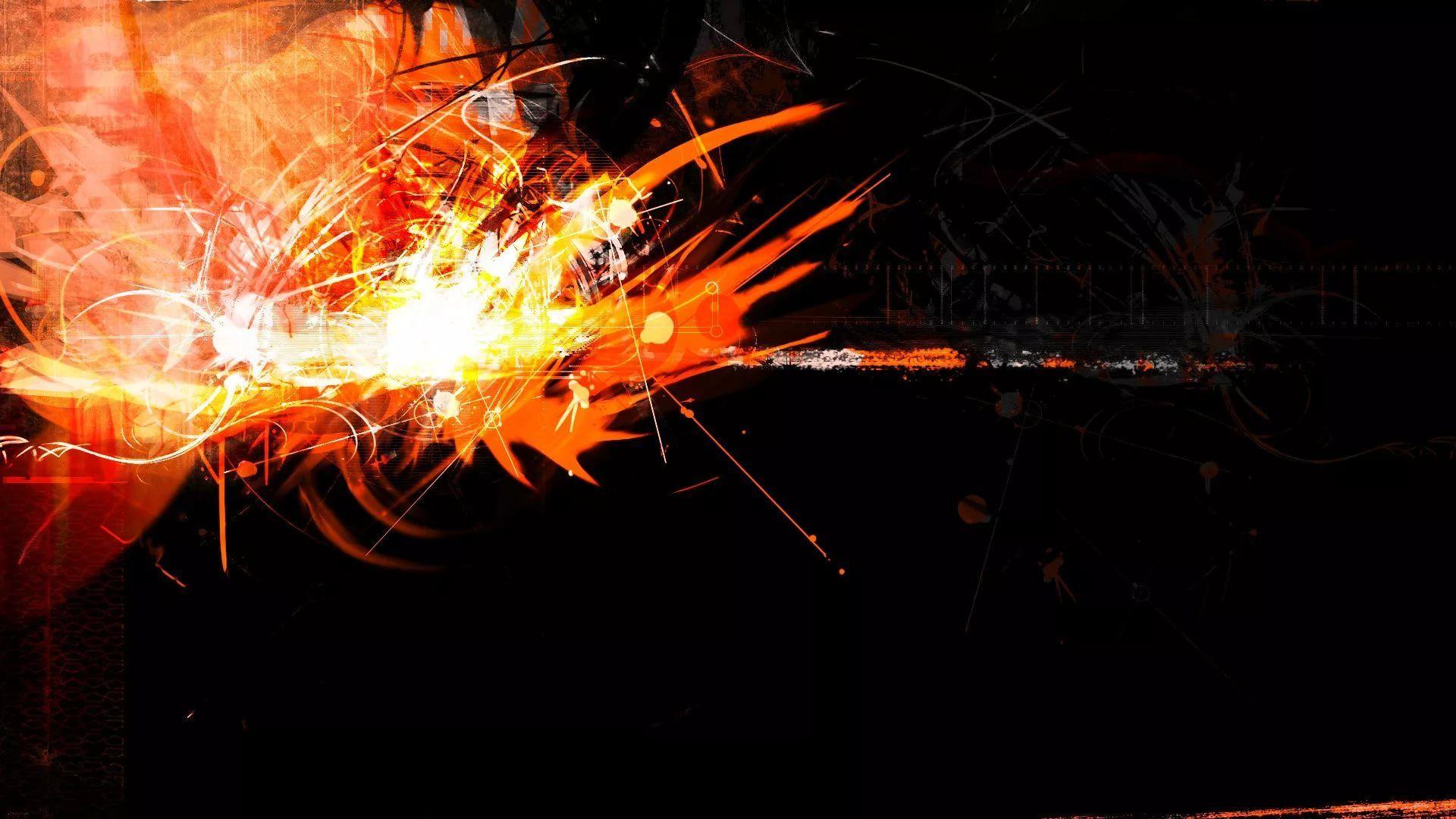 Black And Orange hd wallpaper download