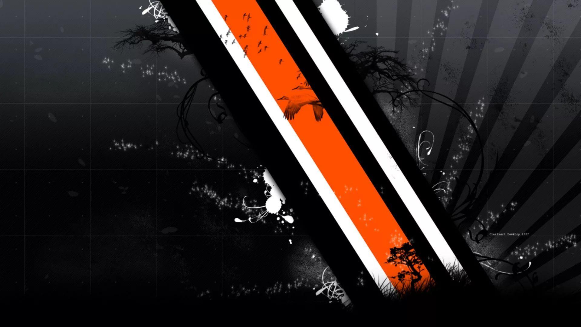 Black And Orange Picture