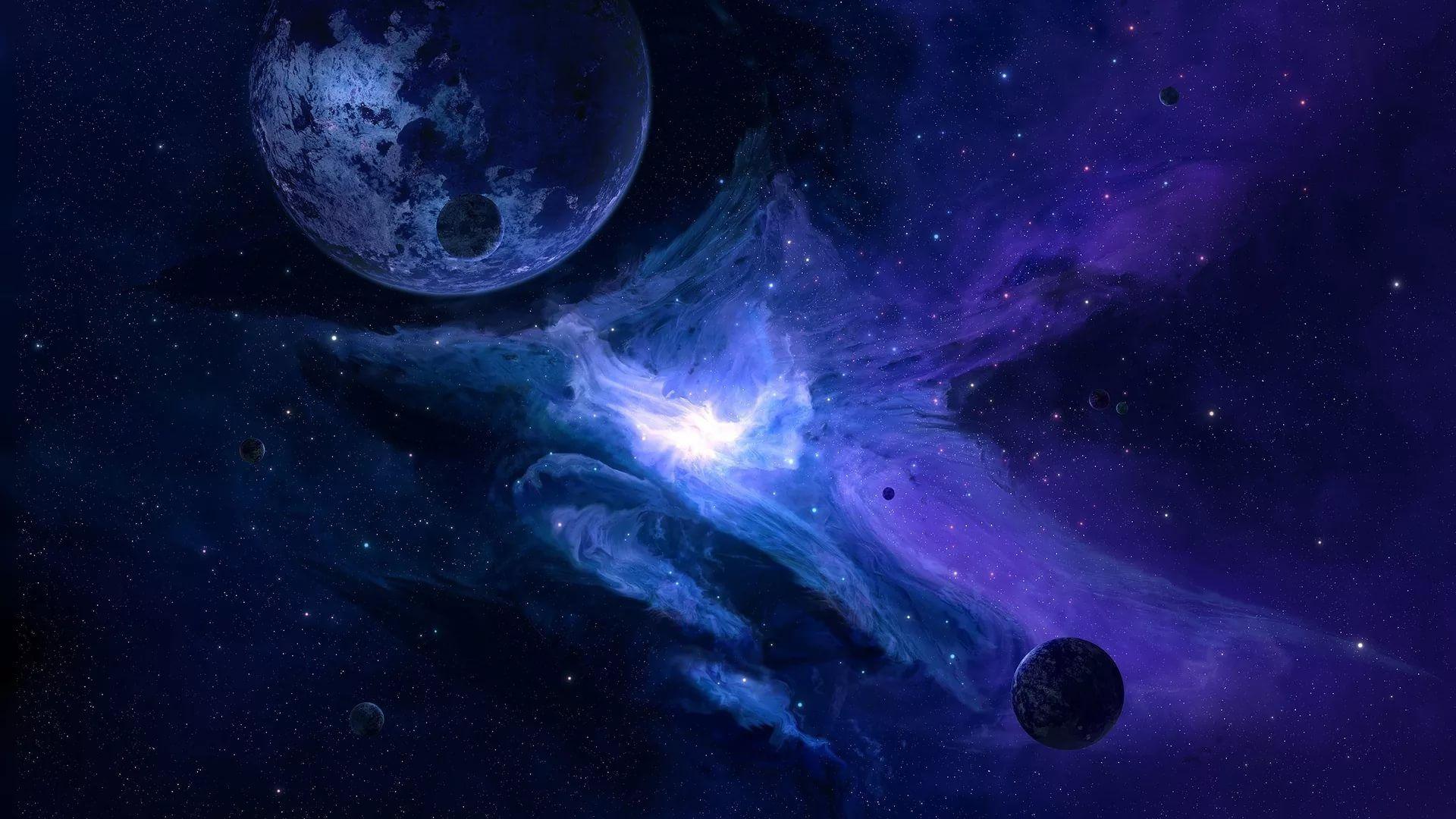 Blue Galaxy free hd wallpaper
