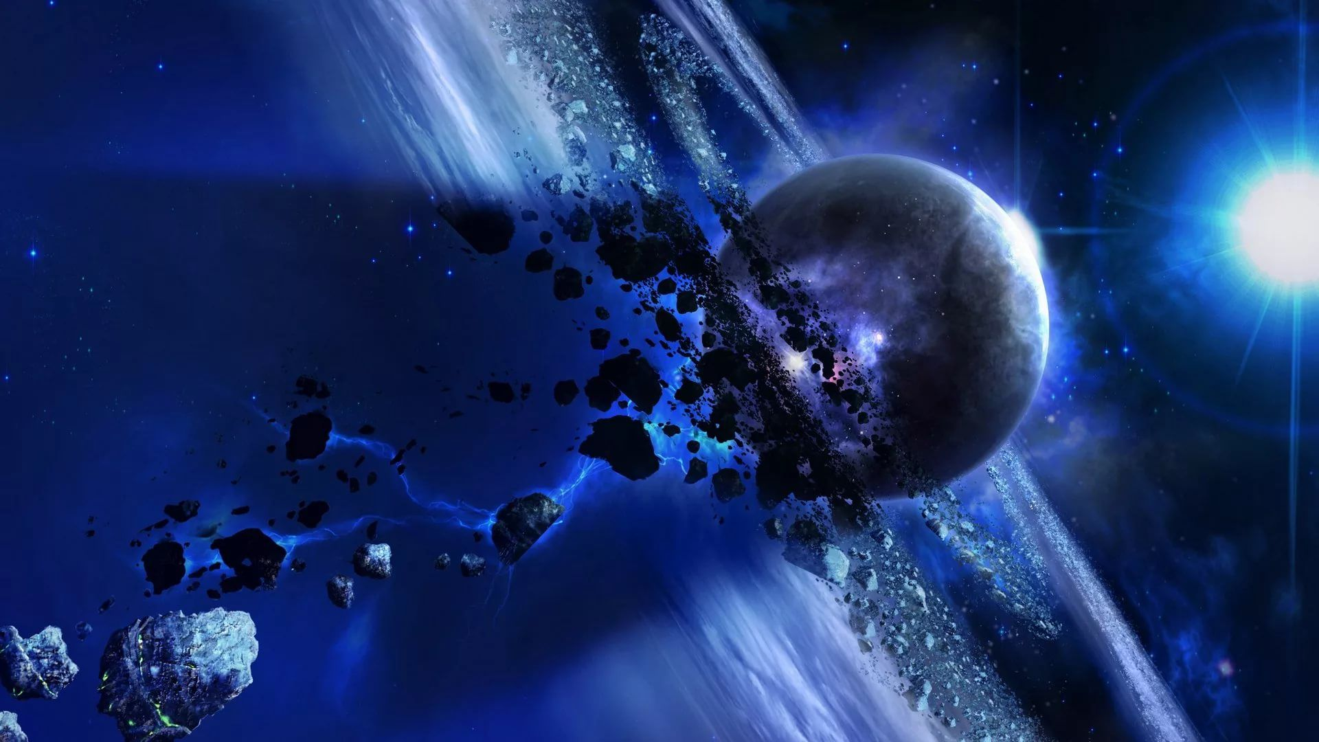 Blue Galaxy Wallpapers 24 Images Wallpaperboat