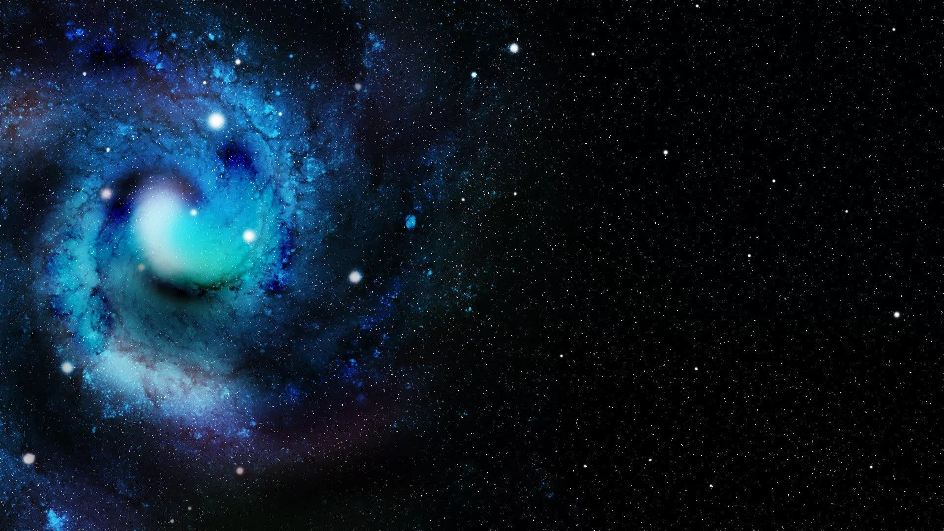 Blue Galaxy Free Wallpaper