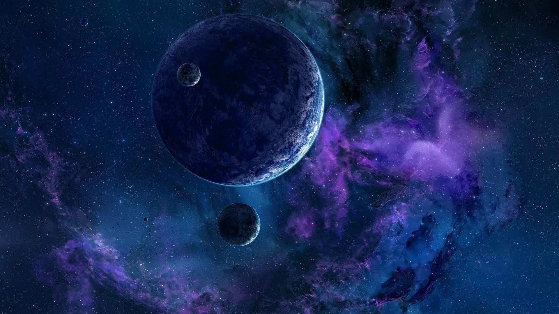 Blue Galaxy Wallpaper Theme