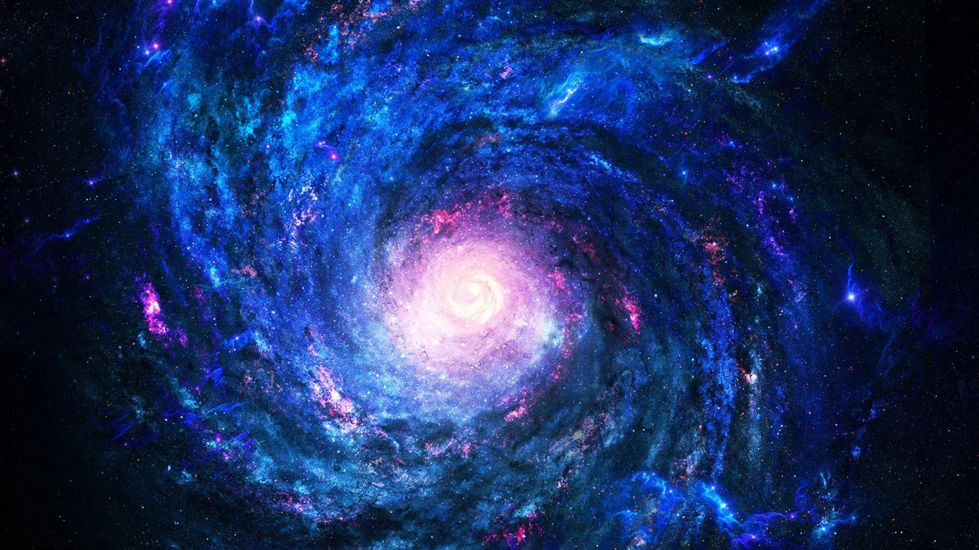 Blue Galaxy hd wallpaper 1080