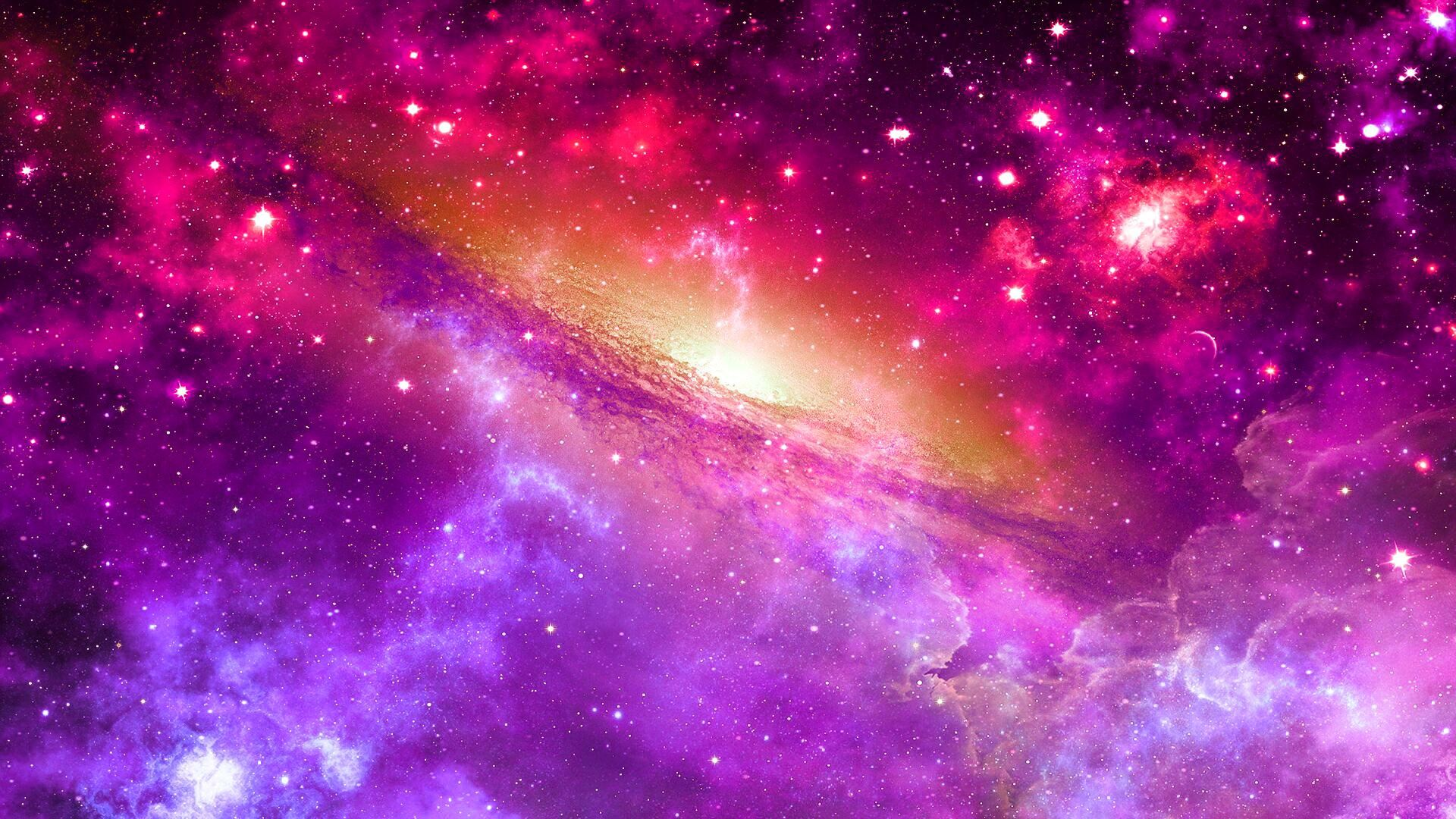 Blue Galaxy HD Wallpaper