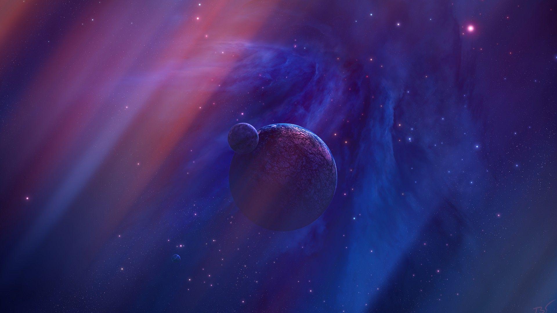 Blue Galaxy HD Desktop Wallpaper