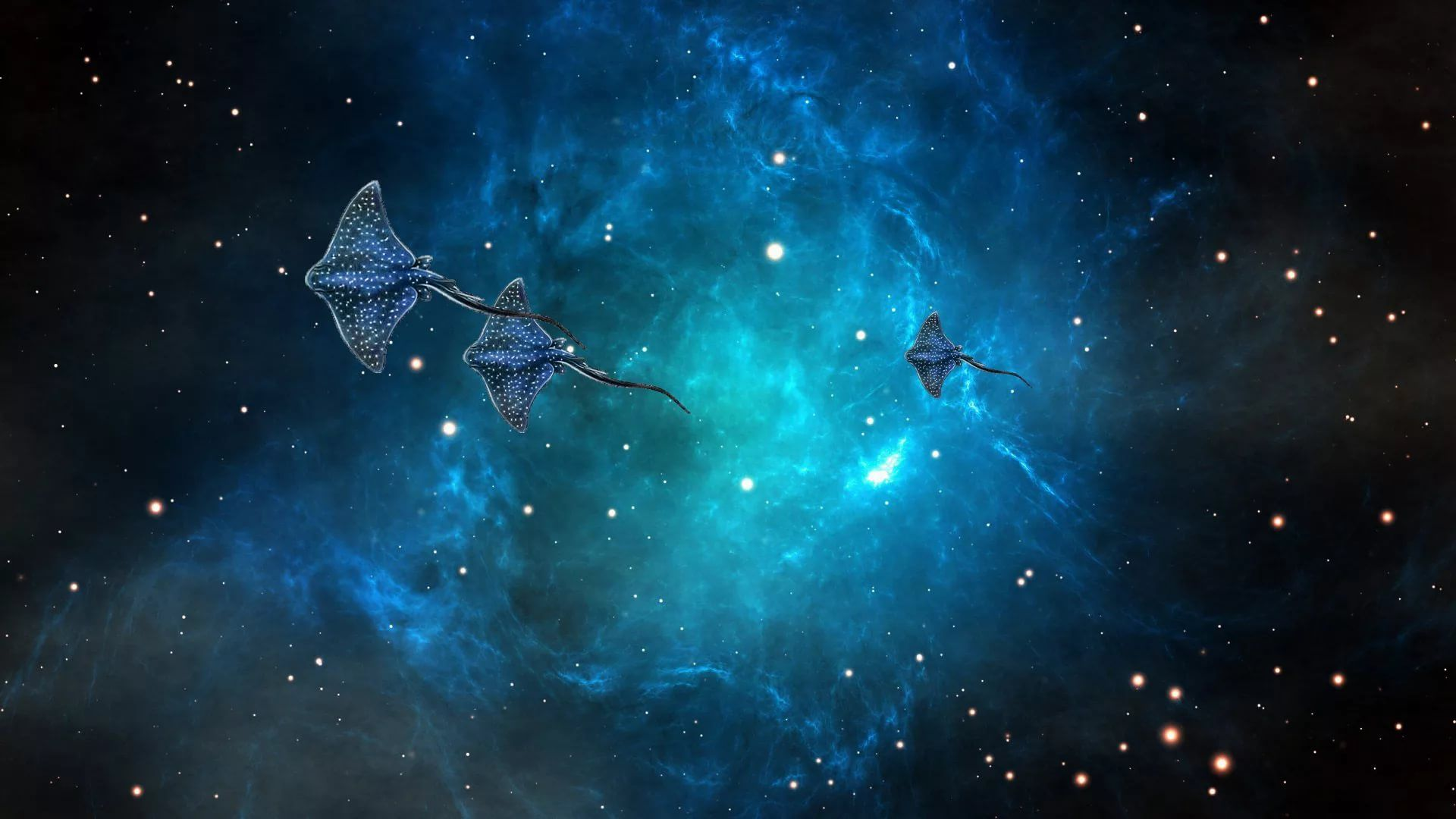 Blue Galaxy Background Wallpaper