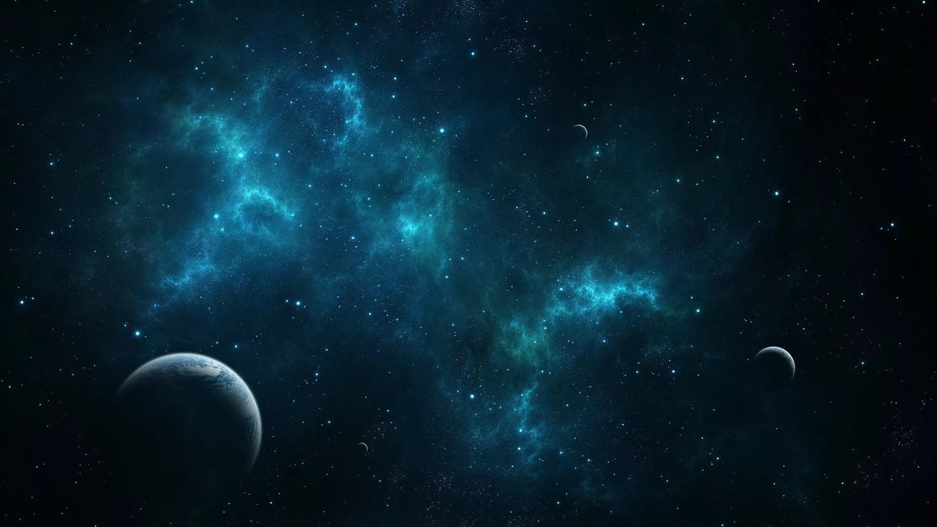 Blue Galaxy Free Wallpaper and Background