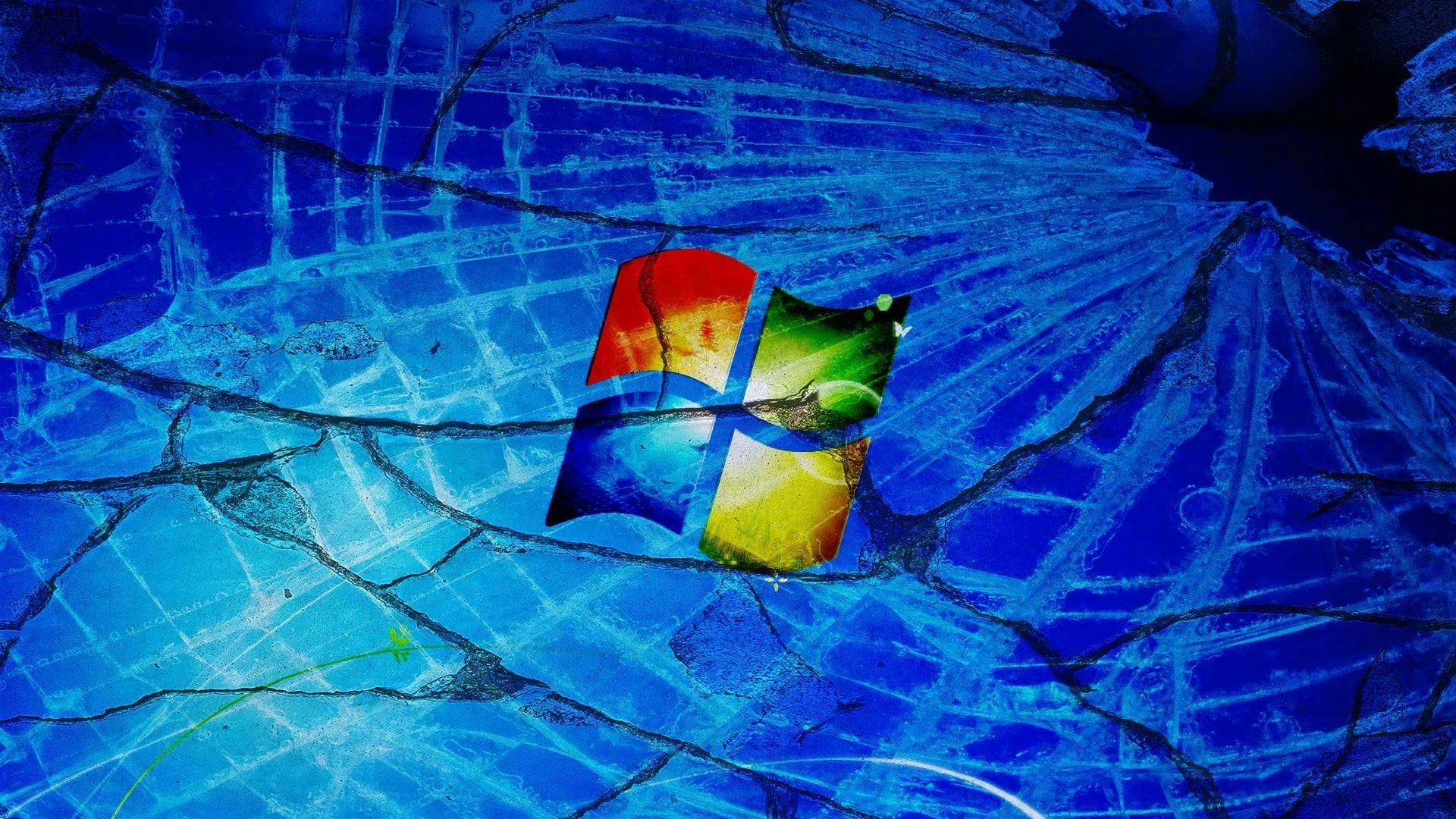 Broken Screen laptop wallpaper