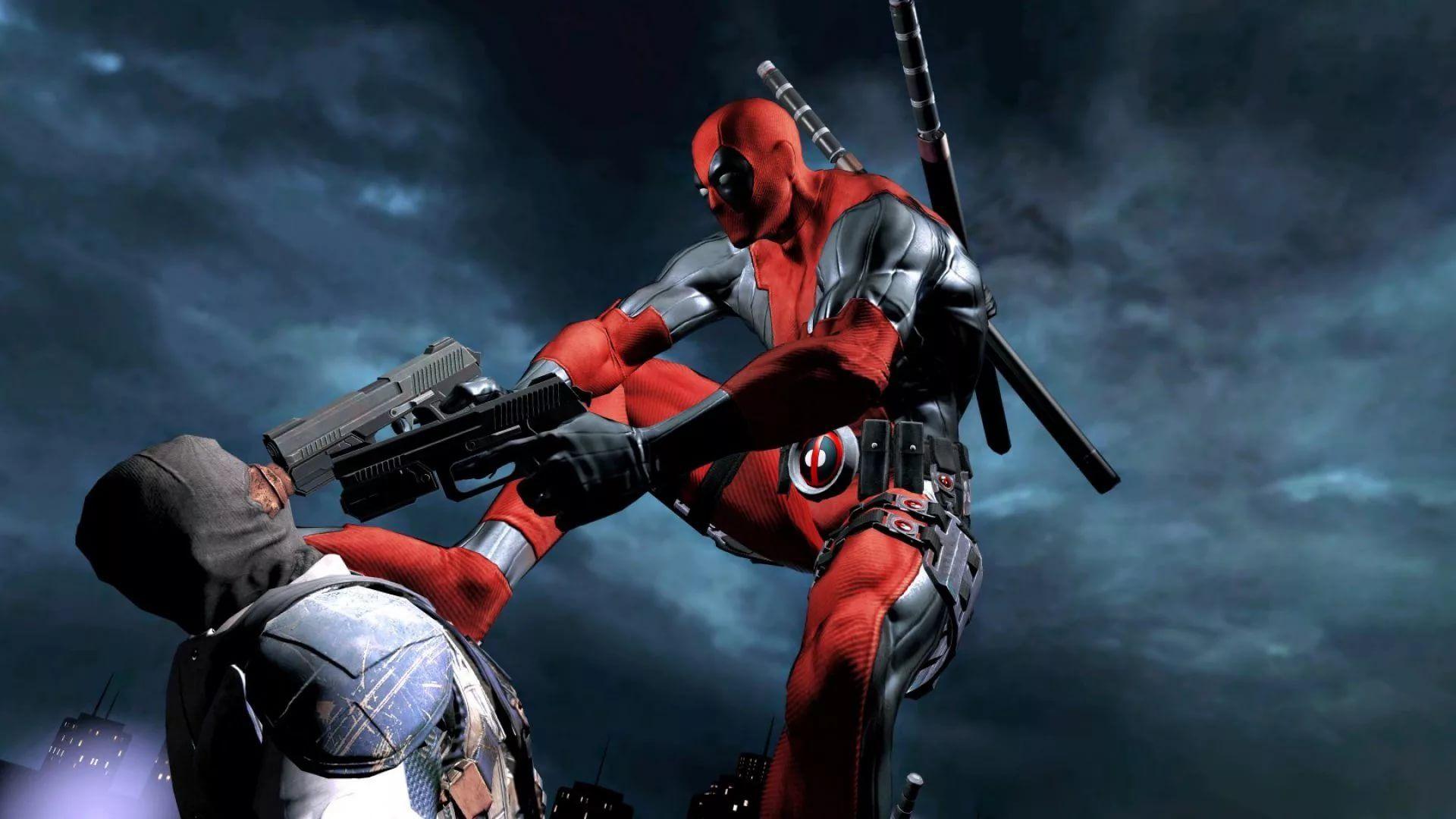 Cool Deadpool Background Wallpaper