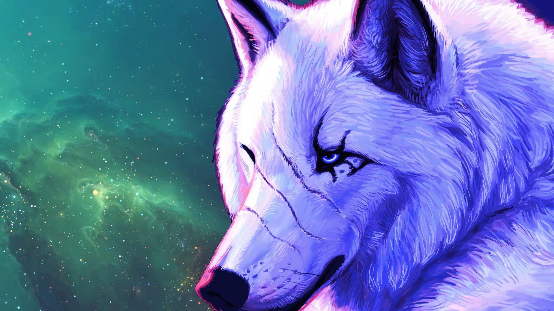 Cool Wolf full wallpaper