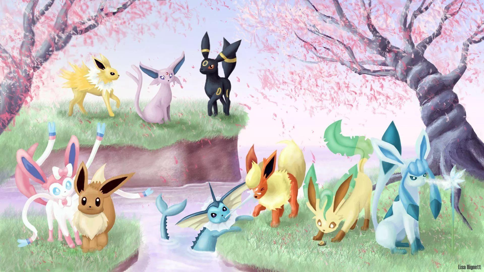 Eevee Evolution wallpaper theme