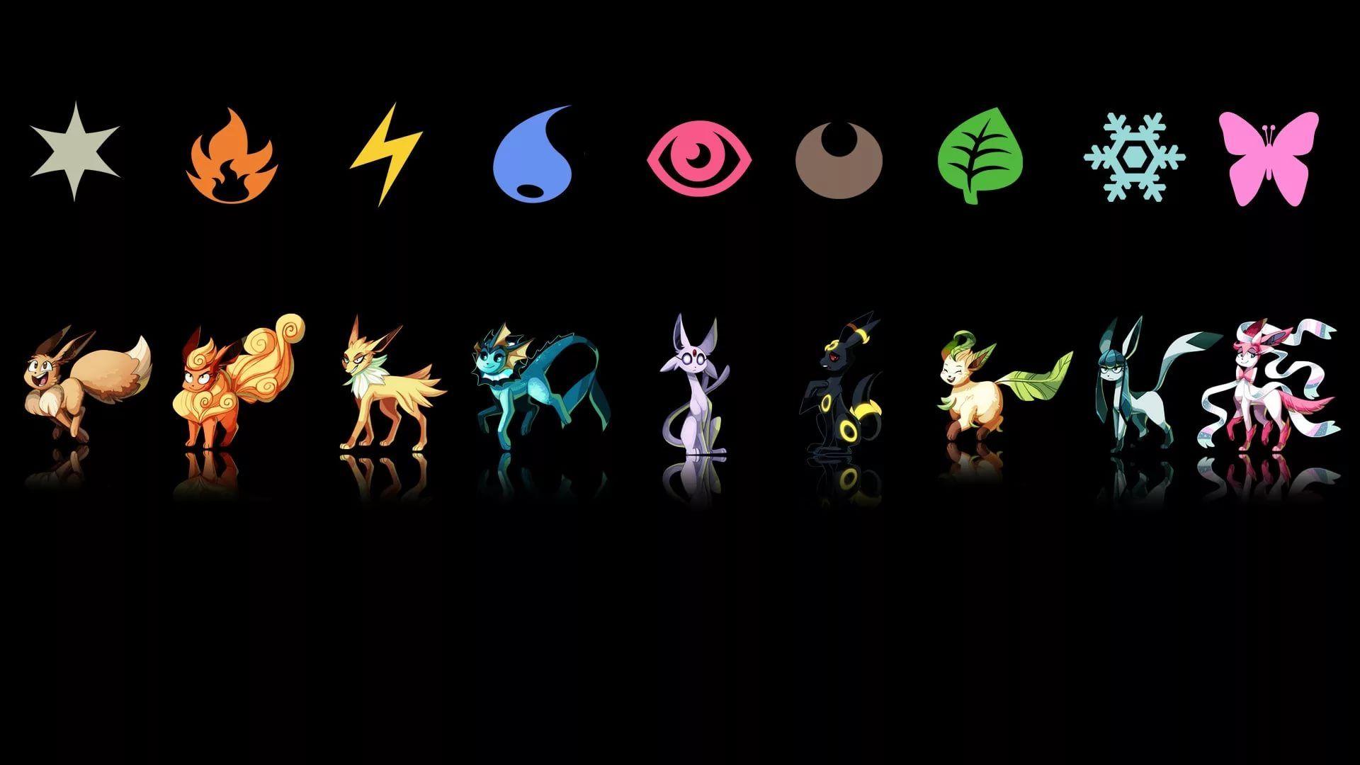 Eevee Evolution screen wallpaper