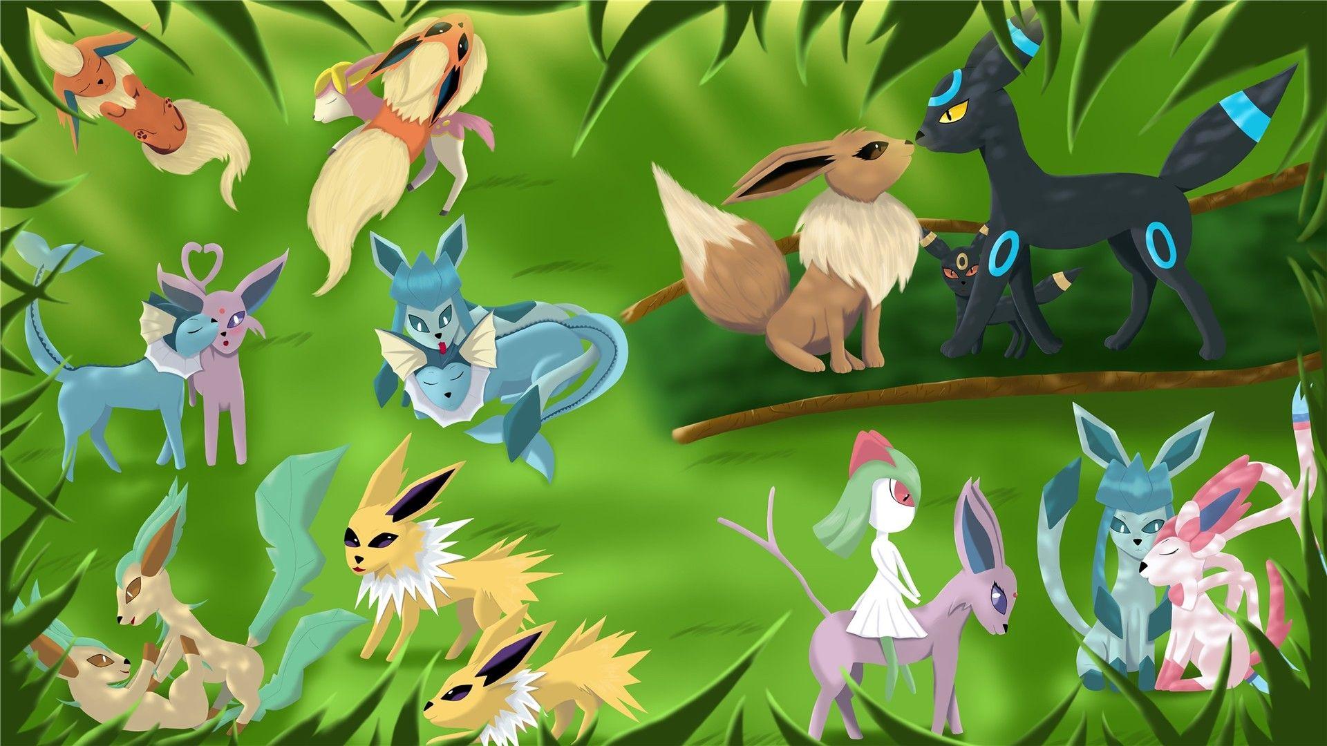 Eevee Evolution Background Wallpaper