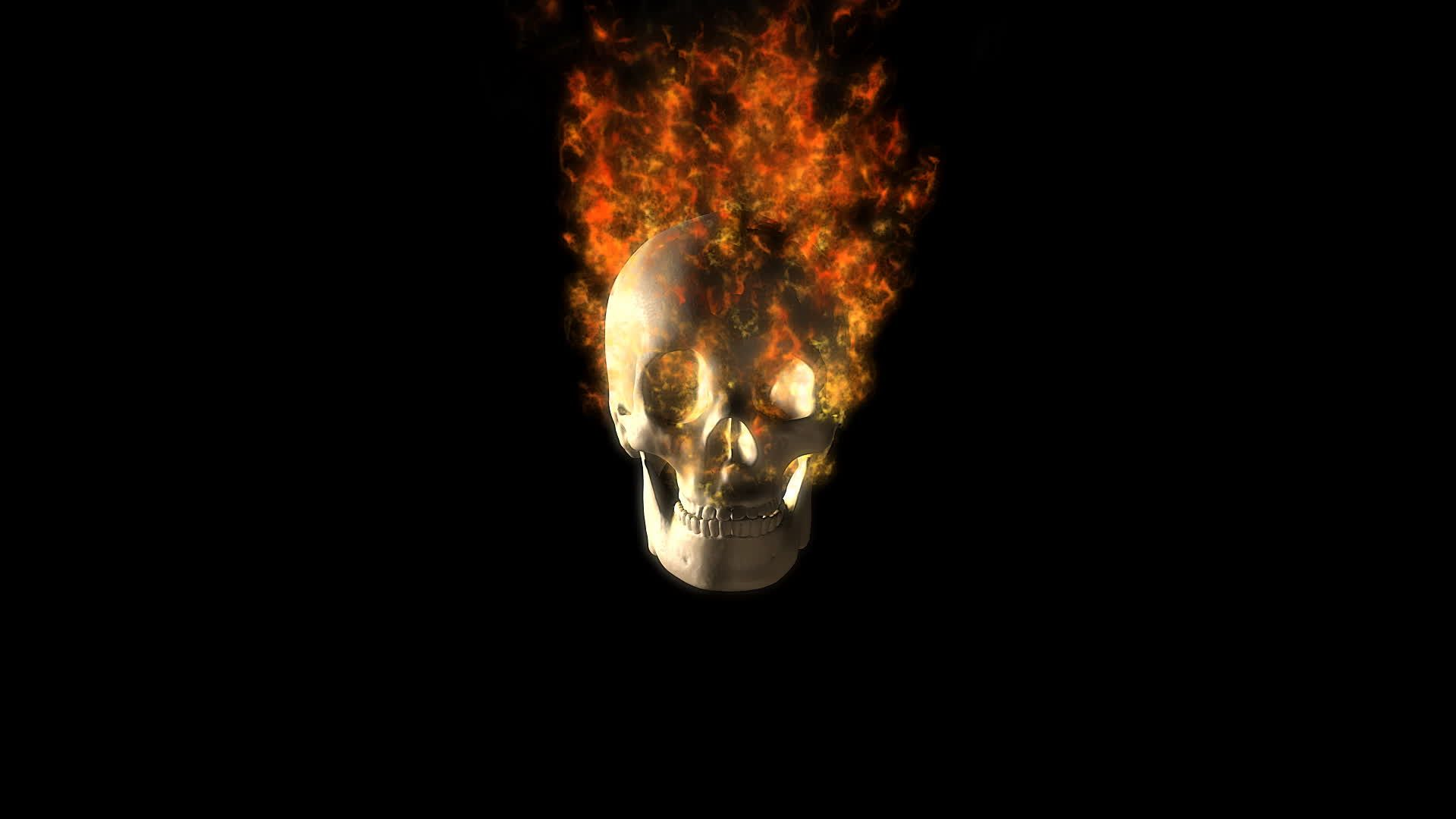 Flaming Skull wallpaper theme