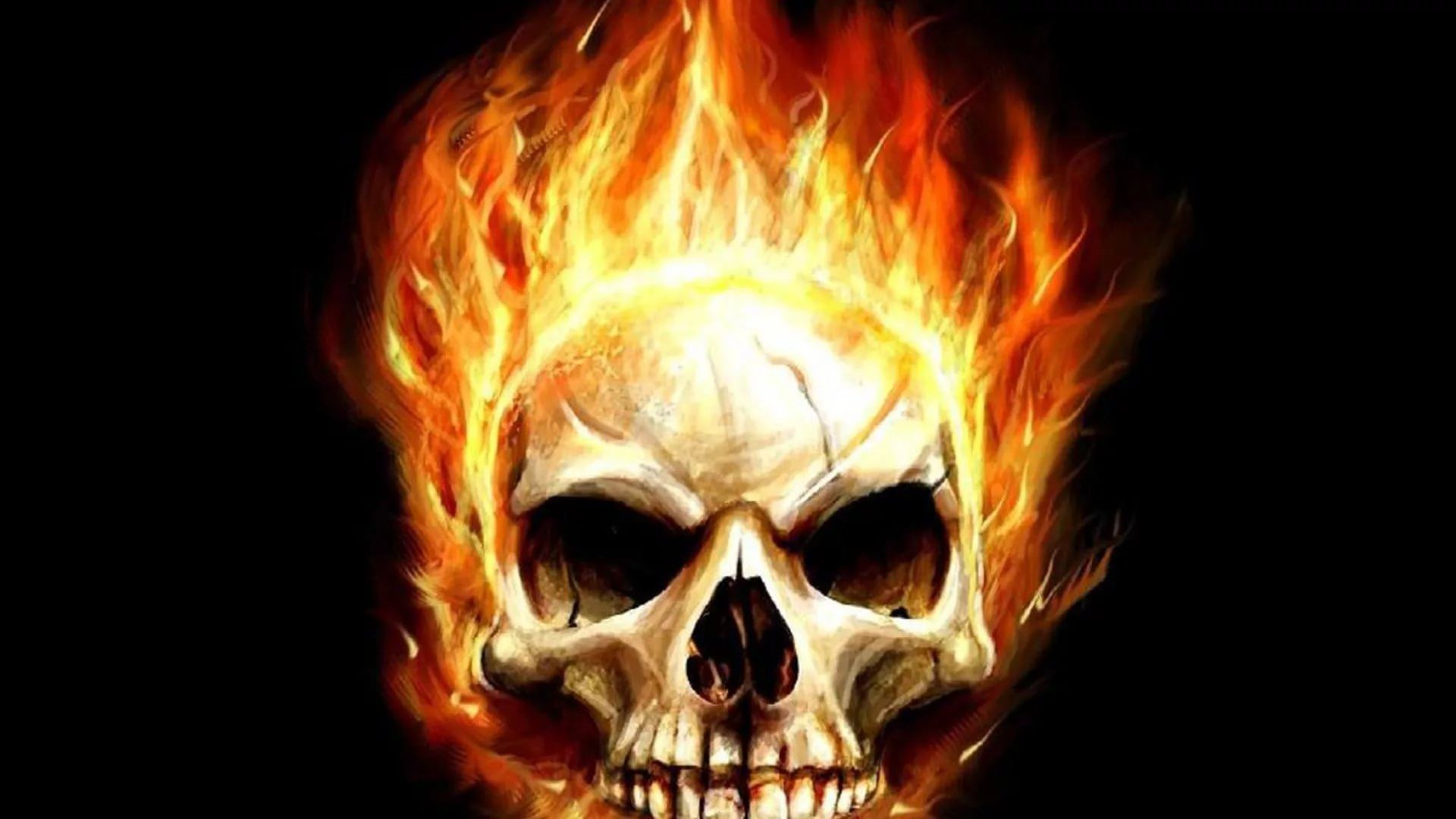 Flaming Skull High Quality