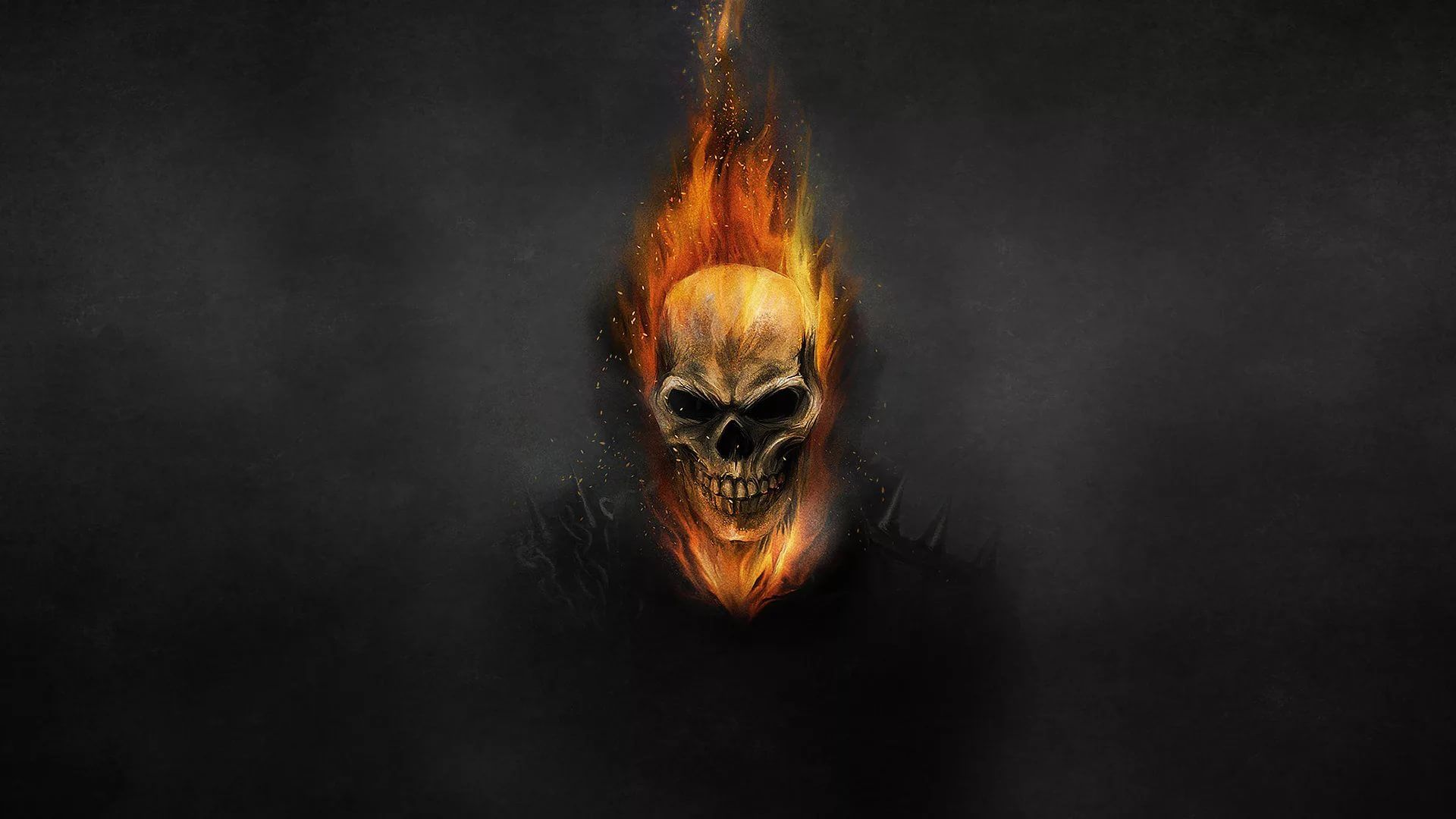 Flaming Skull wallpaper picture hd