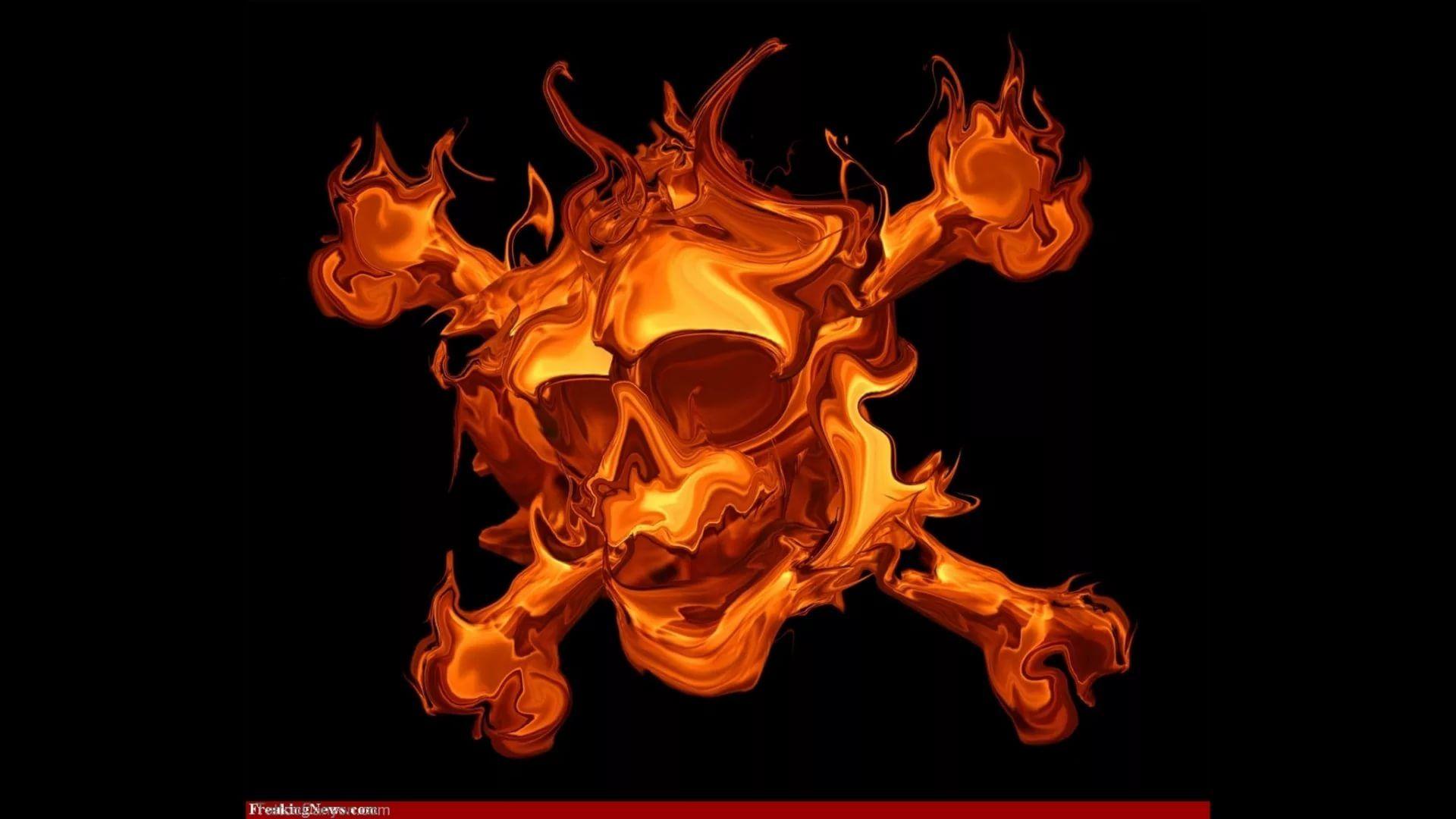 Flaming Skull wallpaper download