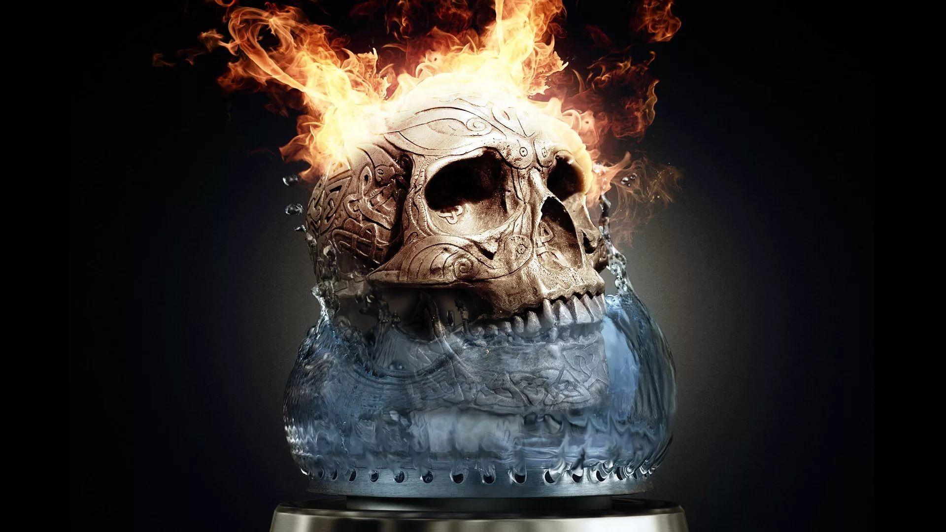 Flaming Skull wallpaper and themes