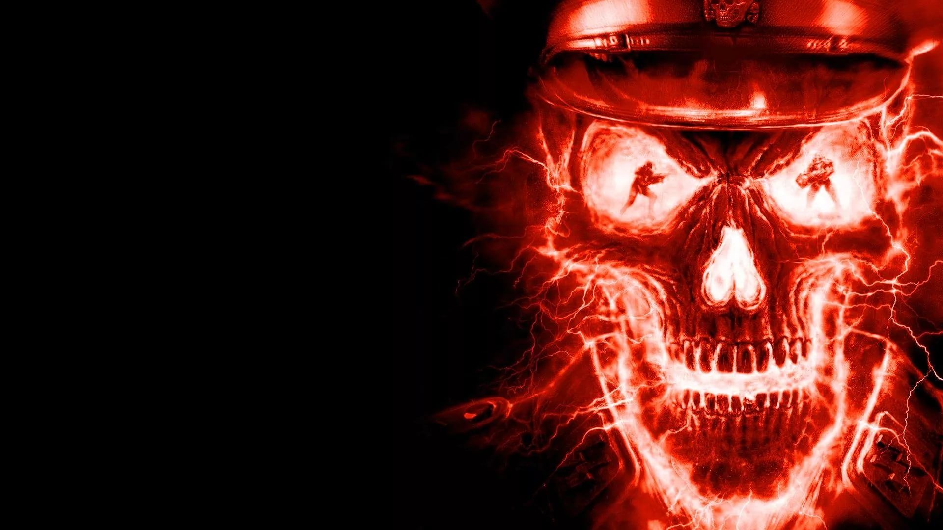 Flaming Skull Wallpaper and Background