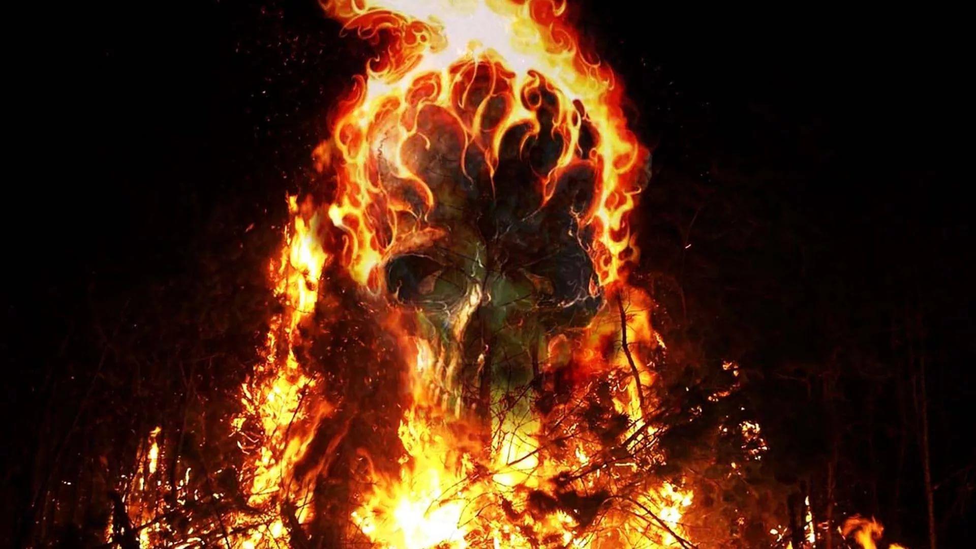Flaming Skull PC Wallpaper HD