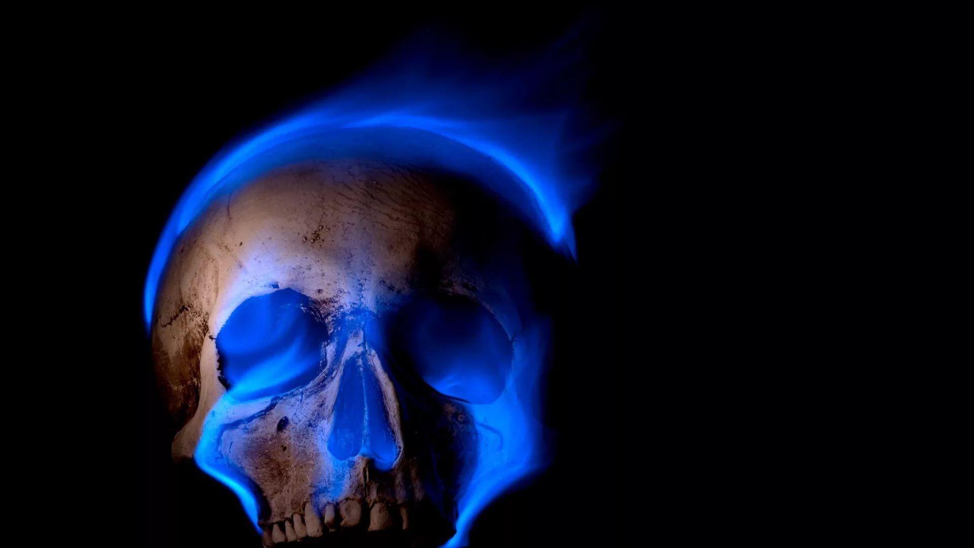 Flaming Skull Good Wallpaper