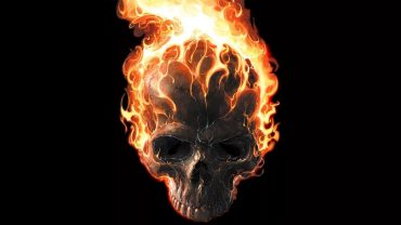 Flaming Skull screen wallpaper