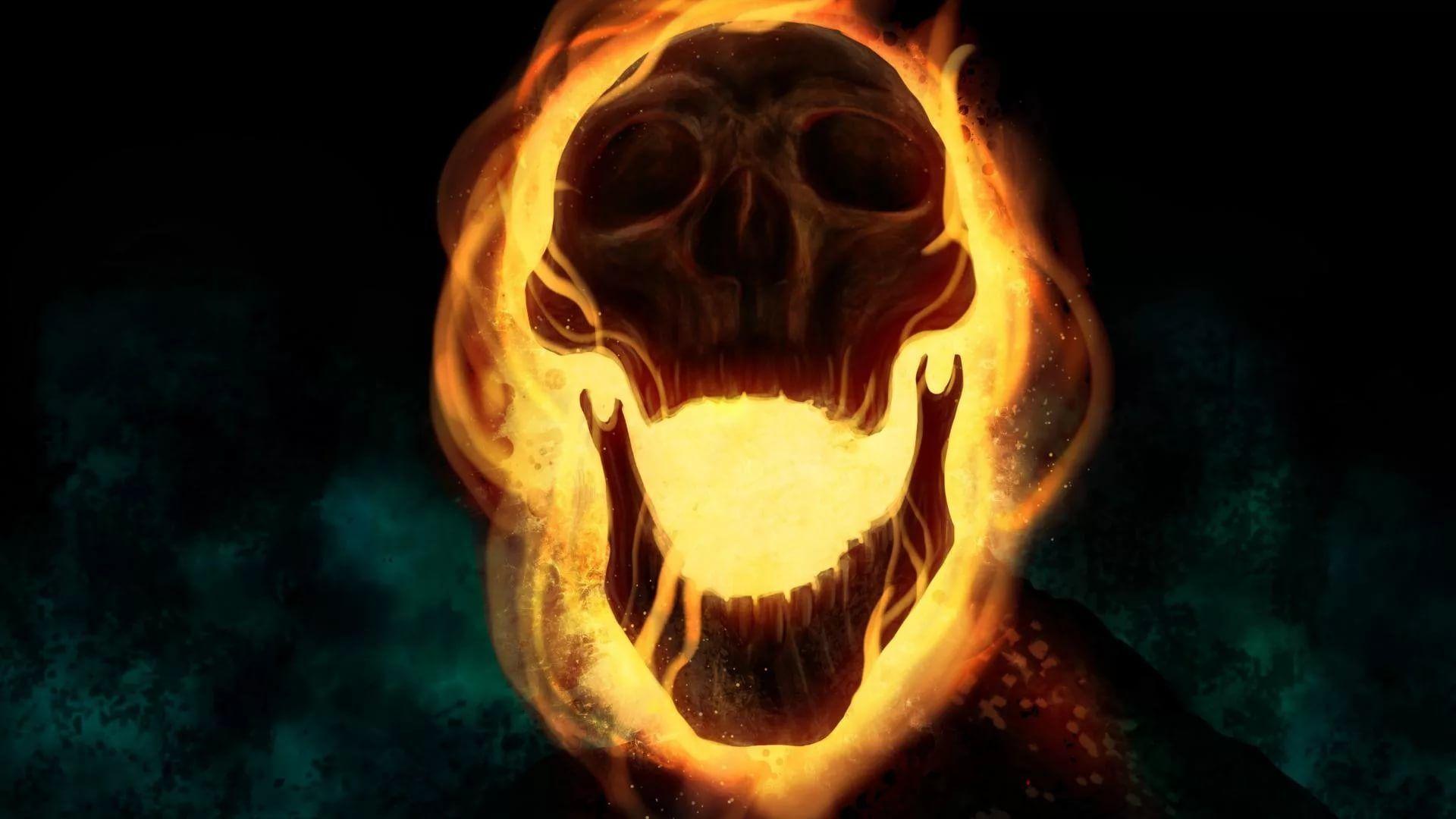 Flaming Skull wallpaper photo full hd