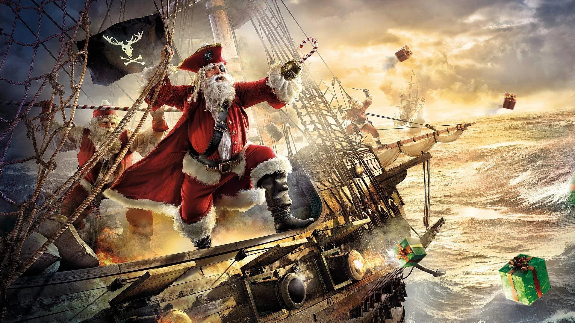 Funny Christmas Full HD Wallpaper