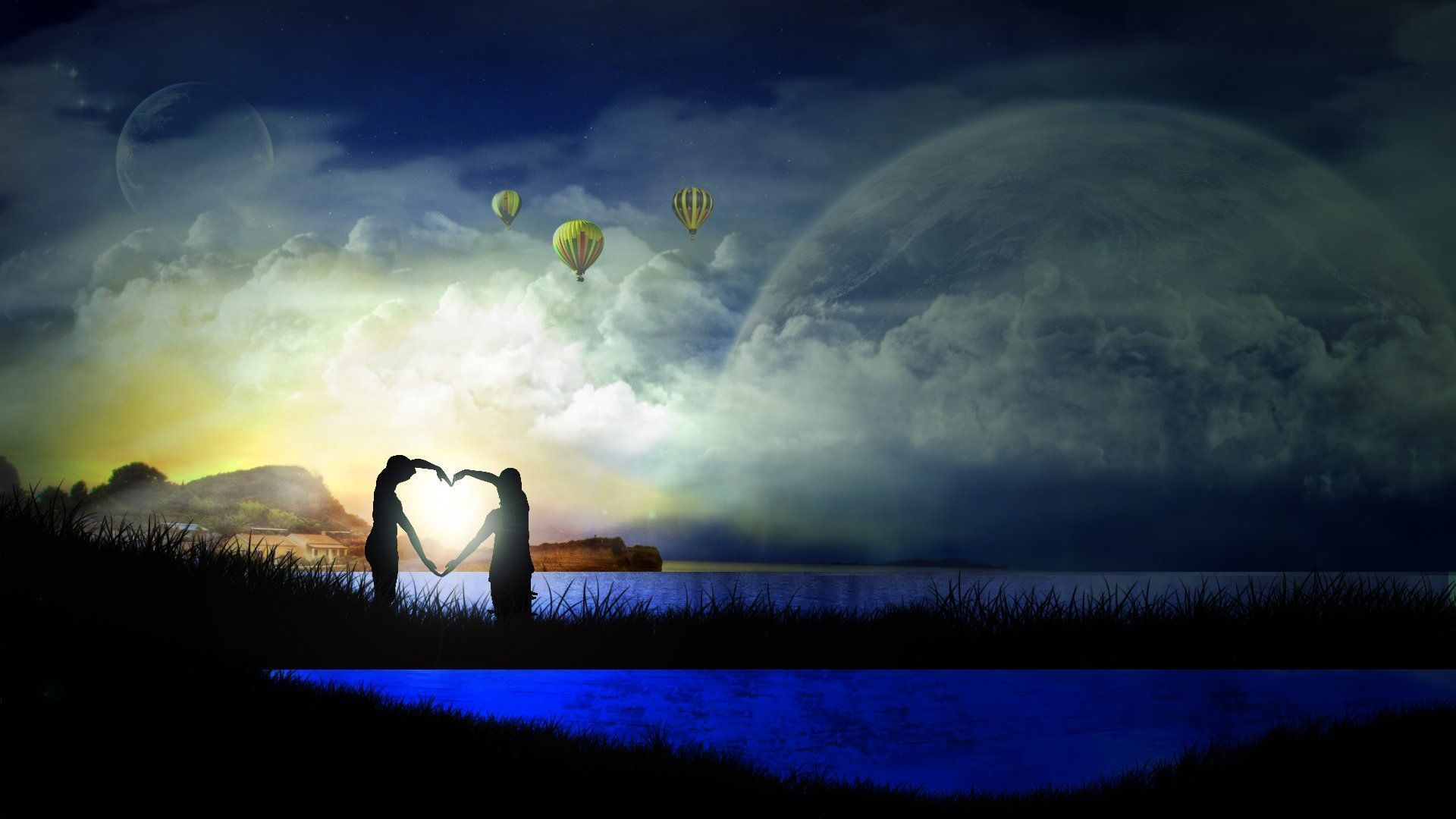Good Night Love Couple Image hd desktop