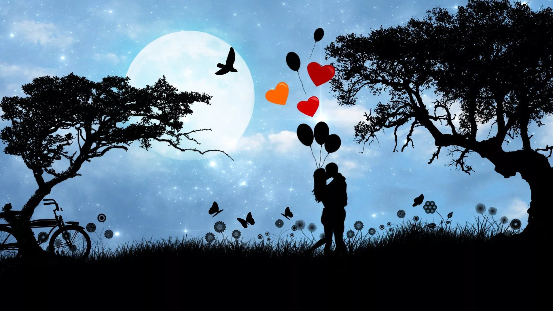 Good Night Love Couple Image desktop