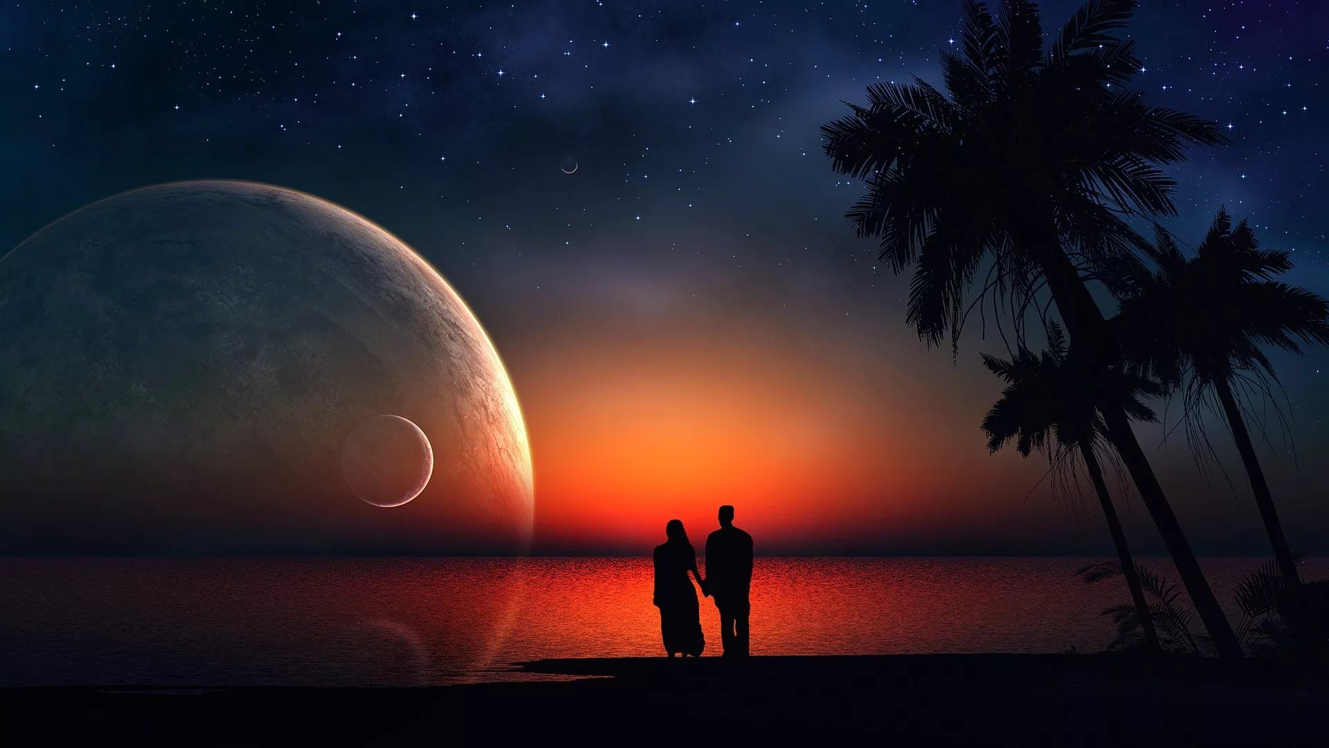 Good Night Love Couple Image hd