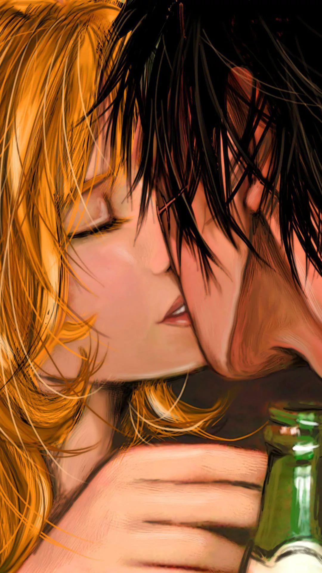 I Kiss U iPhone 6 wallpaper