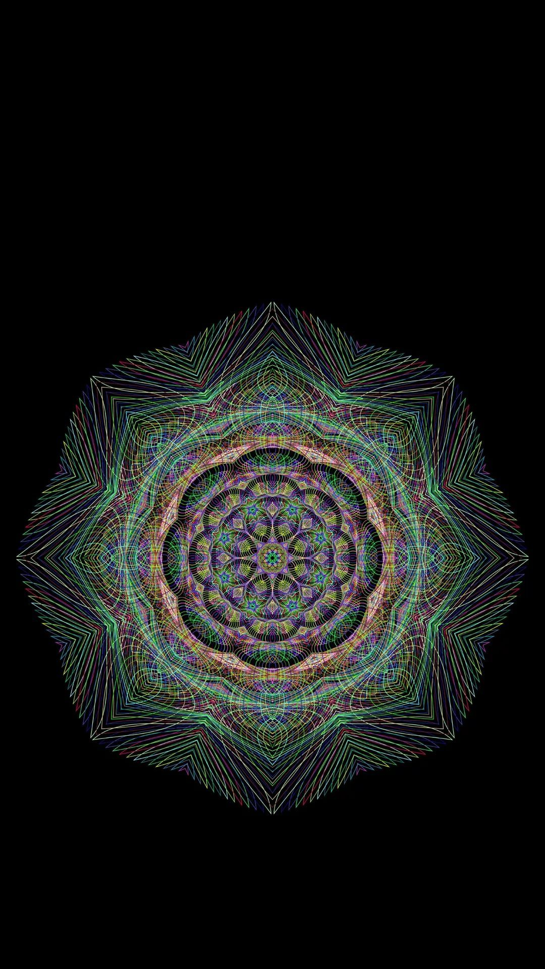 Mandala iPhone hd wallpaper