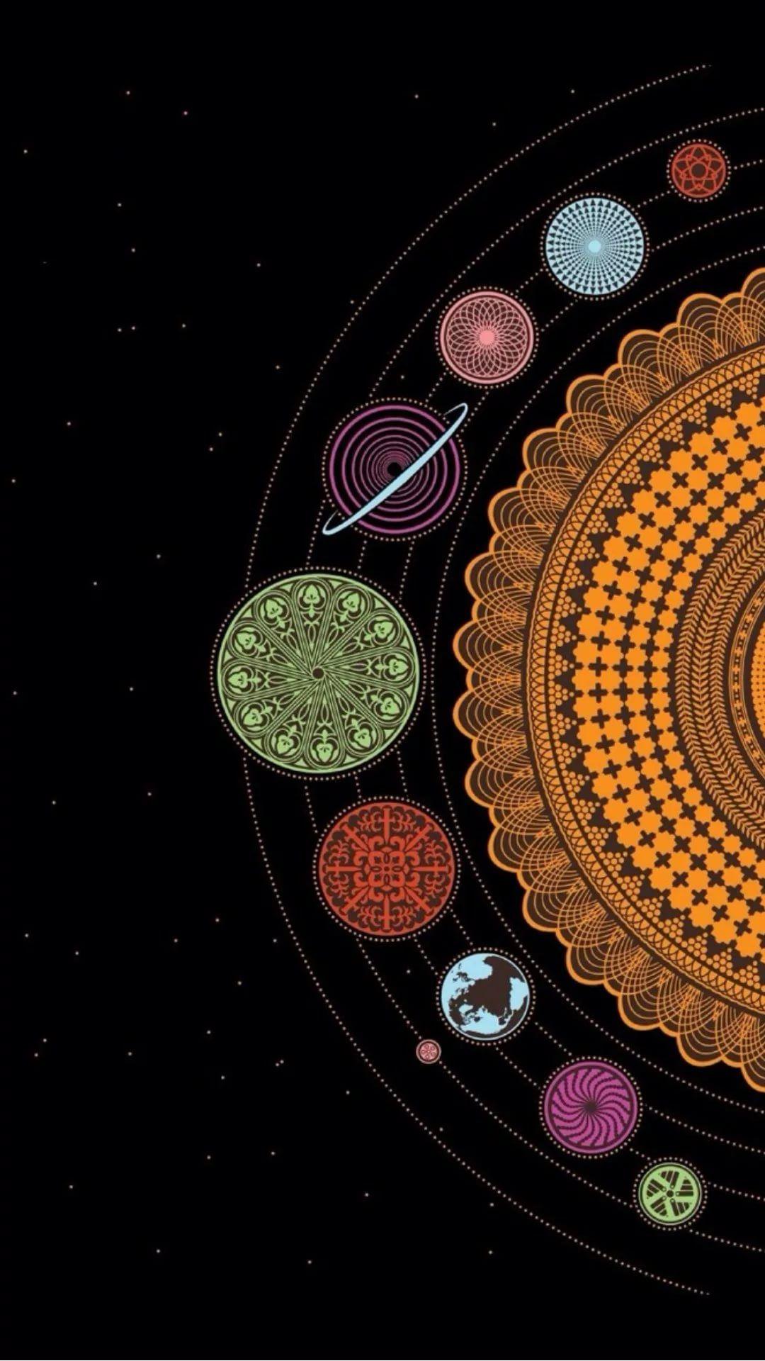 Mandala iPhone wallpaper