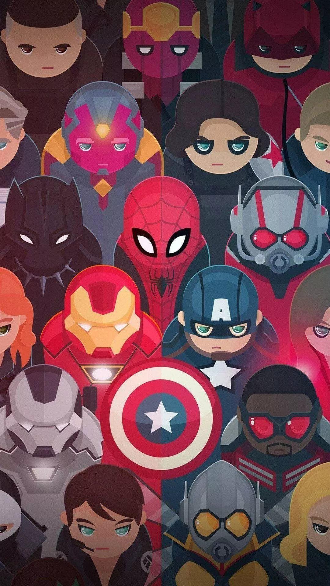 Marvel phone wallpaper