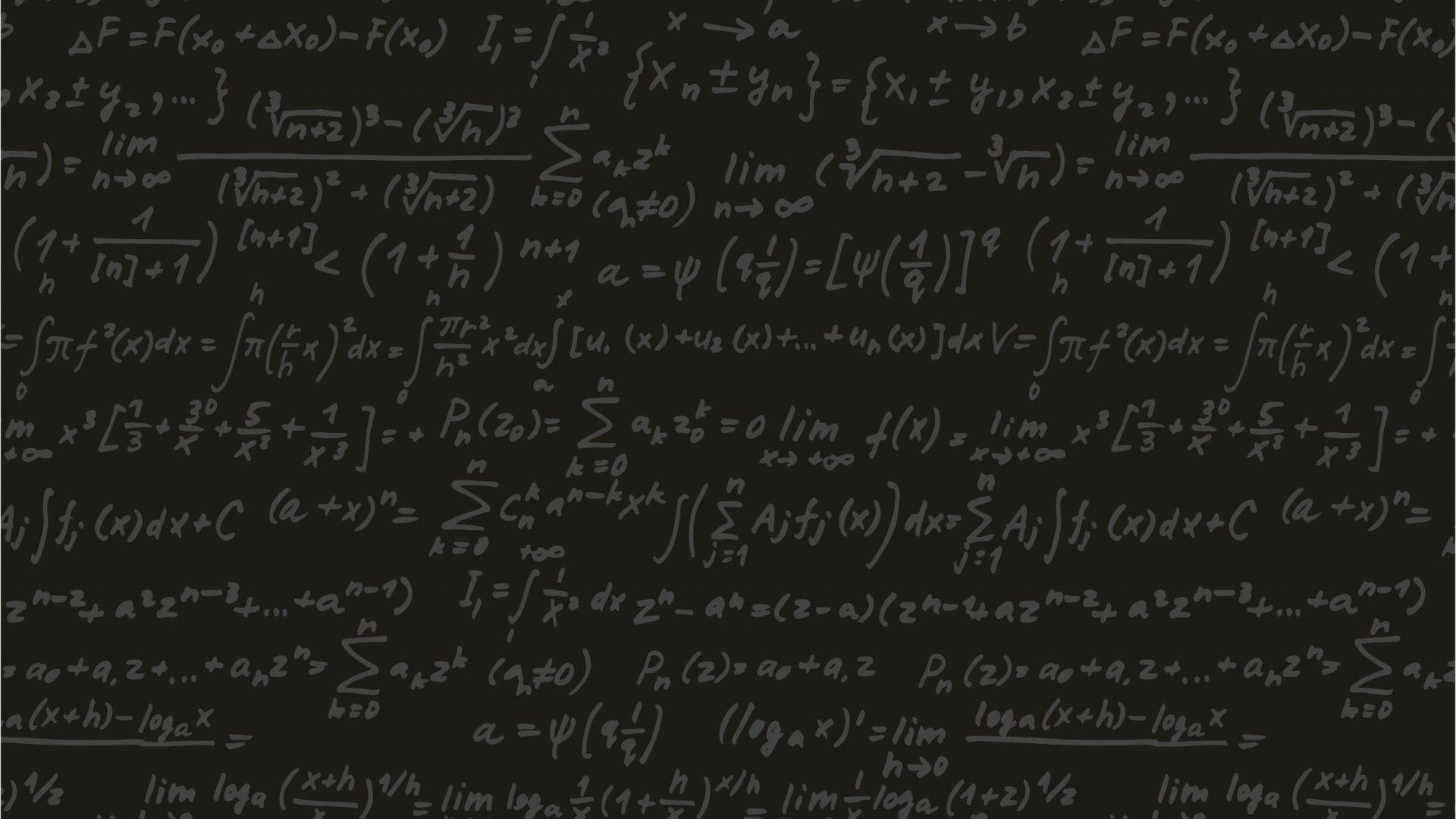 Math Equation HD Desktop Wallpaper