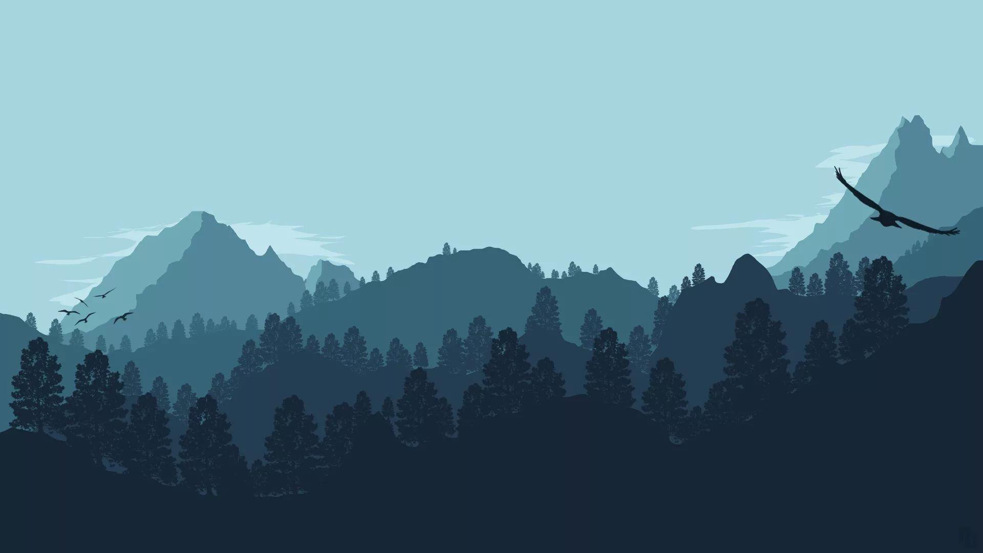 Minimalist Desktop full wallpaper