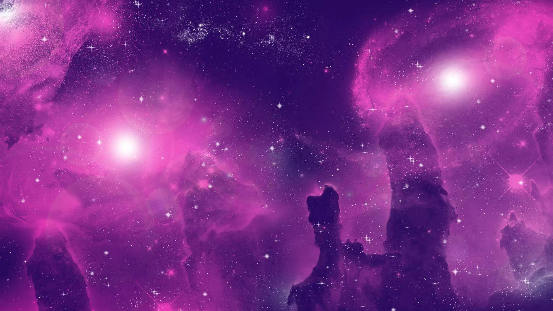 Pink Galaxy hd wallpaper