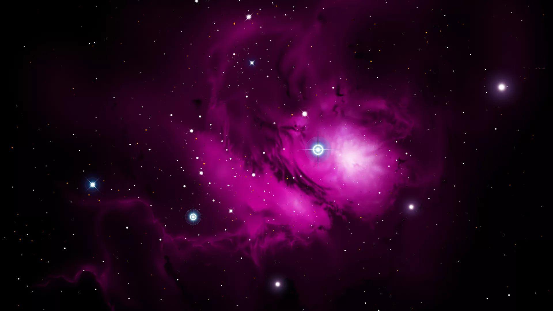 Pink Galaxy desktop wallpaper