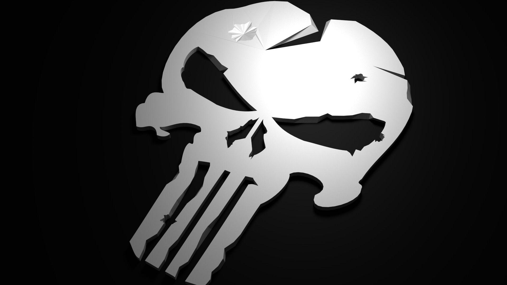 Punisher Skull hd wallpaper 1080p for pc